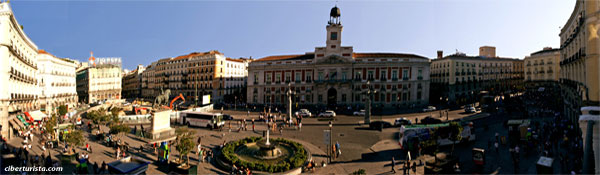 Foto panorámica de la Puerta del Sol