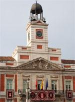 Fachada principal de la Casa de Correos en la Puerta del Sol
