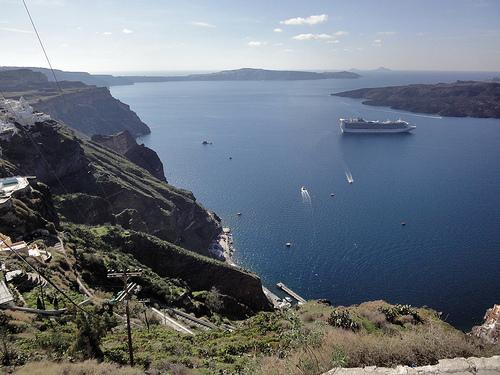 la increíble vista del Egeo